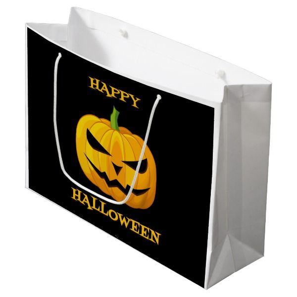 117 Jack O Lantern Large Gift Bag #halloween #giftbag #bag #party