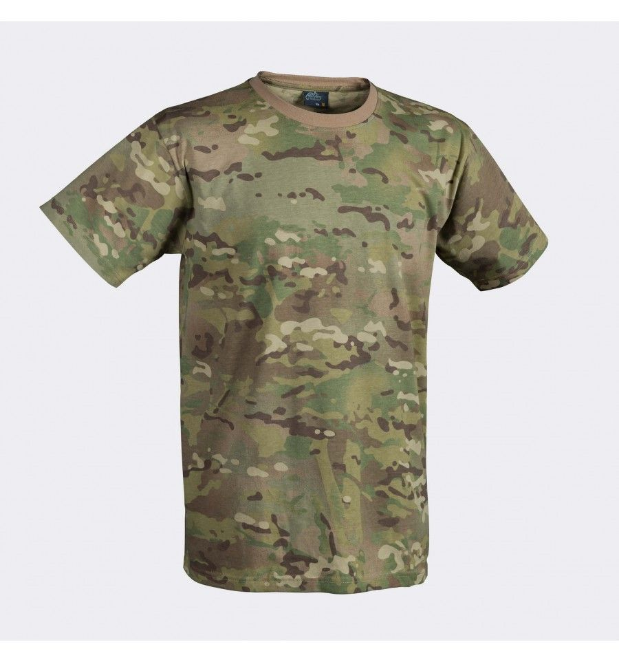 WOODLAND CAMO SHORT SLEEVE ARMY COTTON T-SHIRT SMALL XXXL