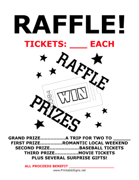 a raffle is a great way to raise money because many different people pay for very few prizes the best way to be successful then is to convince many