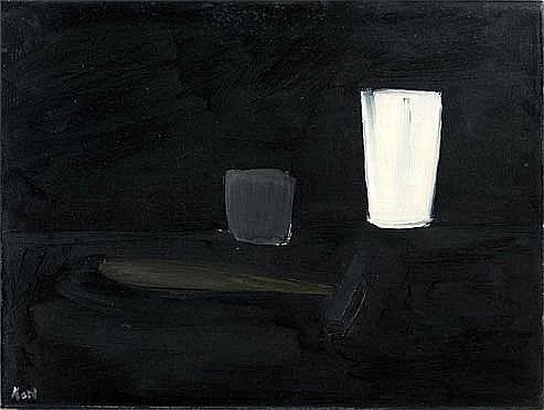 Pleins Feux Sur Les Abstraits De L Apres Guerre Nature Morte Abstrait Peinture Noir Et Blanc