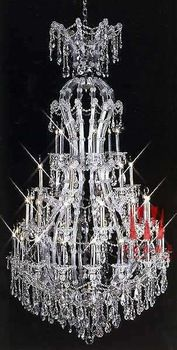Classic room chandelier lighting Chrome chandelier beautiful crystal chandelier lamp C9065 76cm W x 134cm H