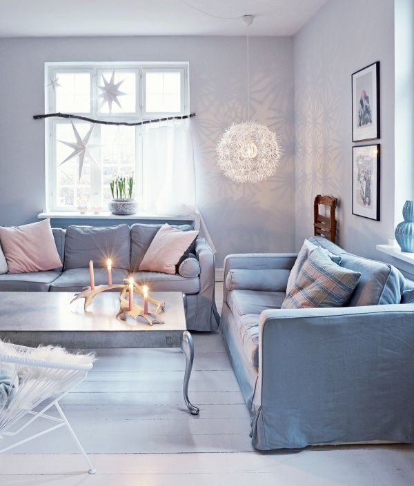 soggiorno-stile scandinavo-shabby chic-natale-decorazioni-colori ...