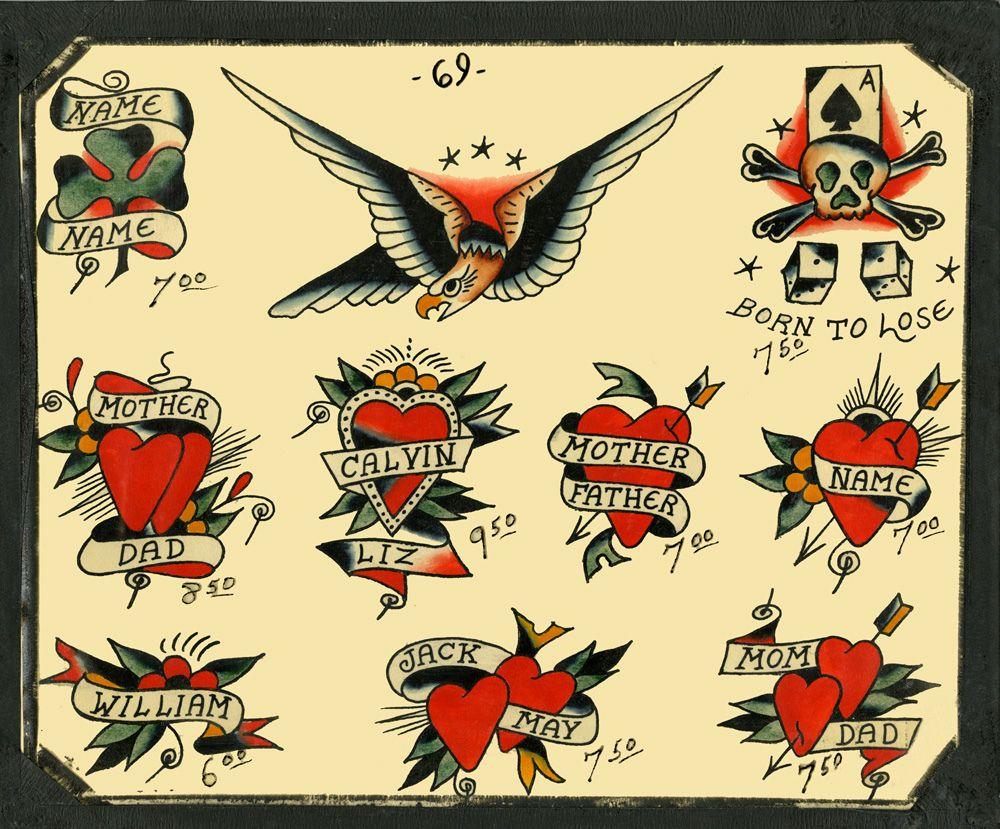 Vintageflashtattoo02 Jpg 1000 829 Vintage Tattoo American Style Tattoo Vintage Tattoo Design