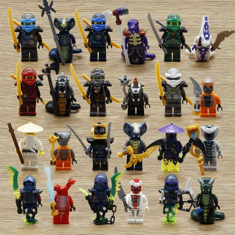 24pcs Ninjago Ninja Movie Minifigures Lego 71019 Lloyd Garmadon Cole Minifigure Ninja Movie Minifigures Ninja Movies Fashion Designer Studio Lego Ninjago Movie