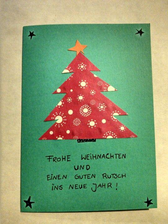 weihnachtskarten selber machen weihnachten pinterest. Black Bedroom Furniture Sets. Home Design Ideas