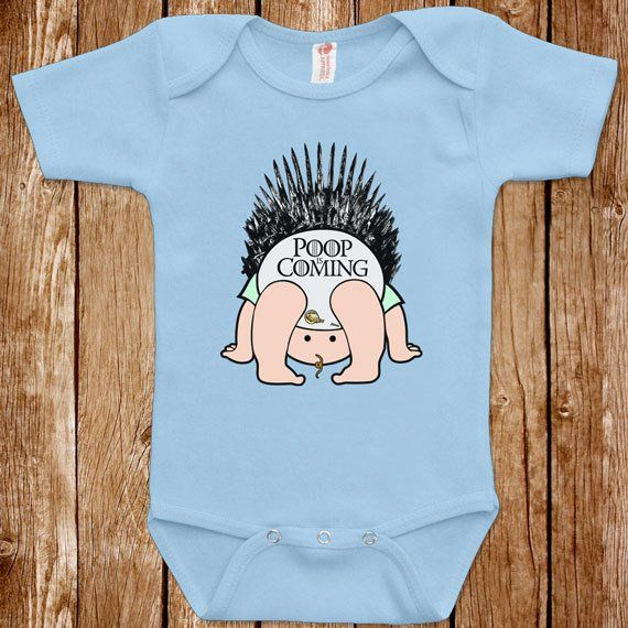 f08fbff986f3f Funny Baby Infant Game Of Thrones Poop Is Coming Bodysuit One Piece Clothes  Romper Joke Boy Girl Fu