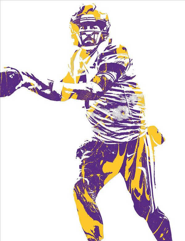 Case Keenum Minnesota Vikings Pixel Art 1 Art Print By Joe