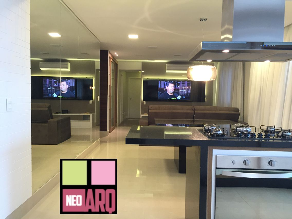 Cozinha/ jantar e sala integrados. Portfólio Neo Arq SP