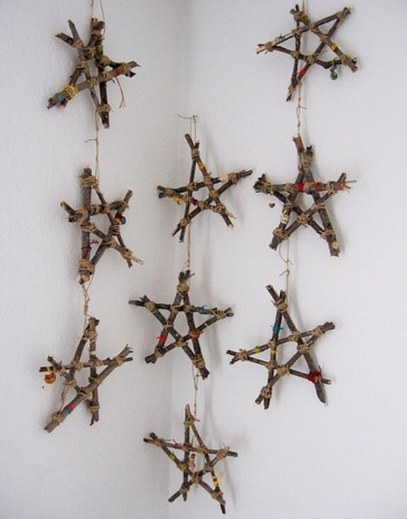 Twig Wall Decor diy twig stars for christmas tree ornaments or wall decor! | xmas