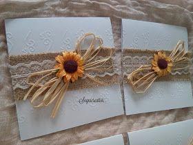 Partecipazioni Matrimonio Girasoli : Partecipazione matrimonio rustico chic girasoli merletto u inviti