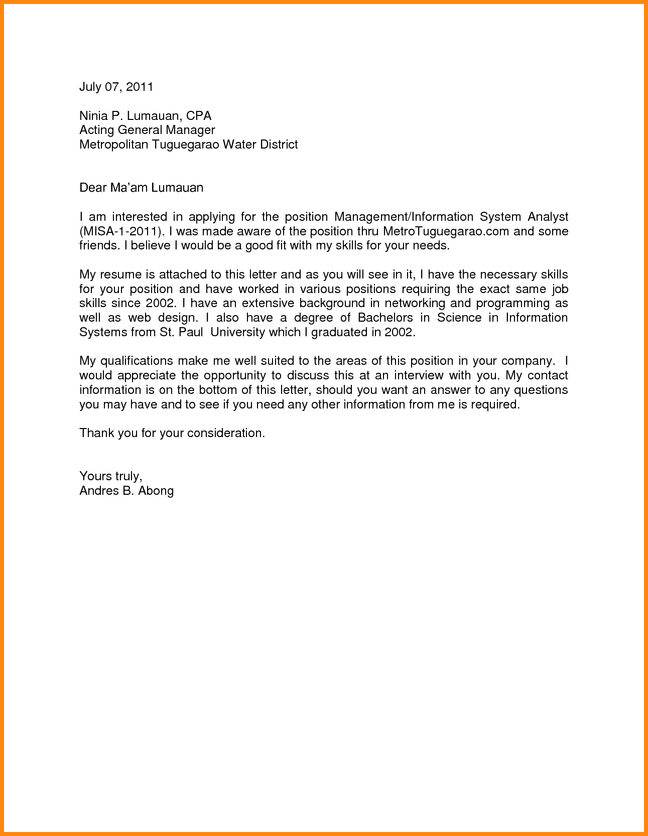 Appointment Letter General Manager Postpone Sample