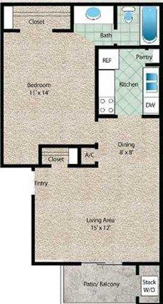 La Arena Floor Plan At The El Dorado View Apartments In Webster Tx Floor Plans Unique Floor Plans 2 Bedroom Floor Plans
