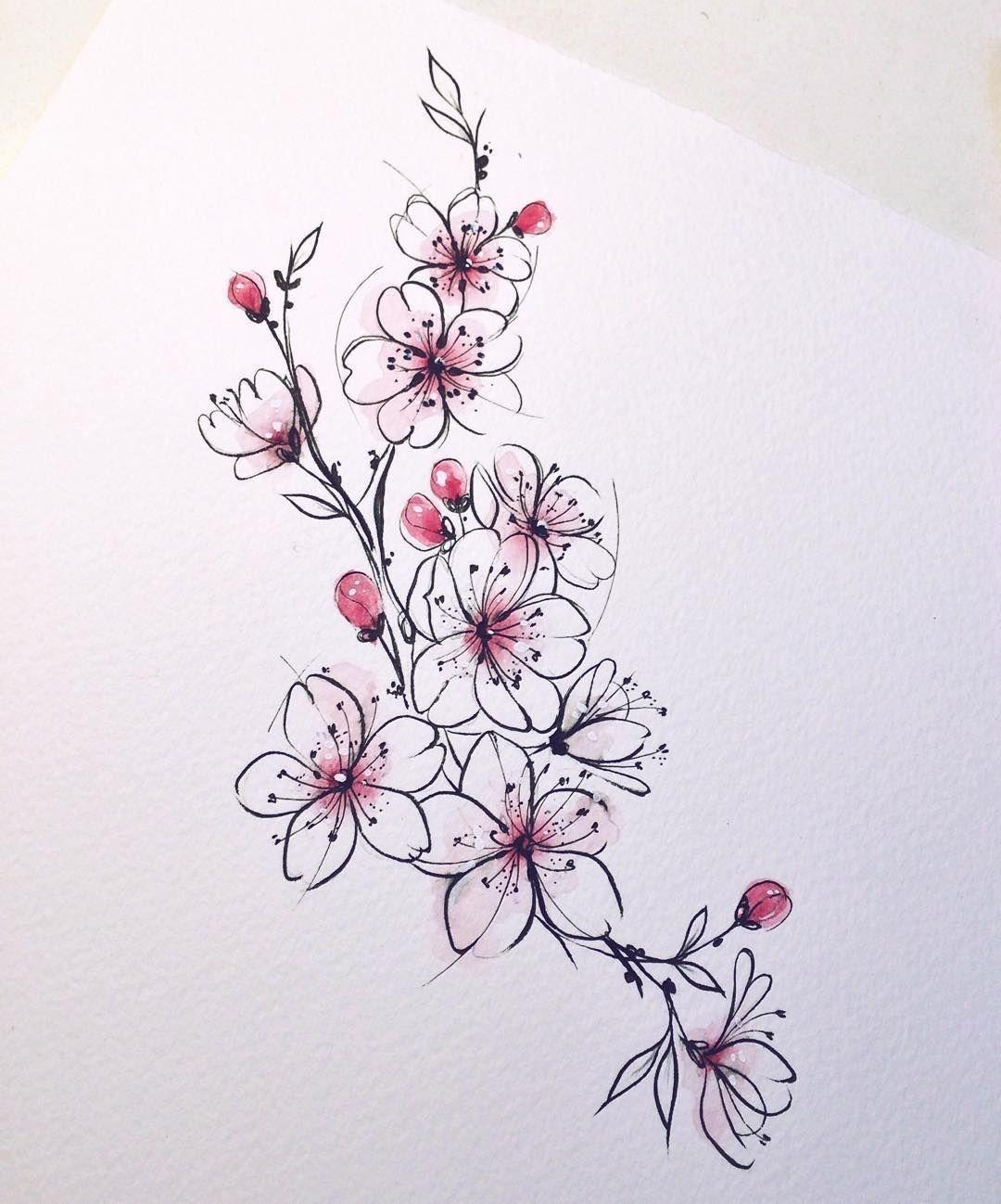 Flowers Dezdemon Xyz Tatowierungen Kirschbluten