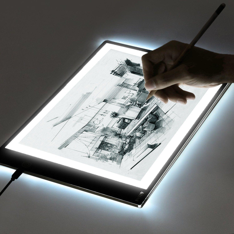 Intey light box dimmable led artcraft tracing light pad a4