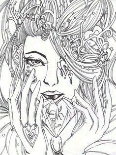 Visage Fairy Coloring Pages Adult Coloring Pages Fairy Coloring