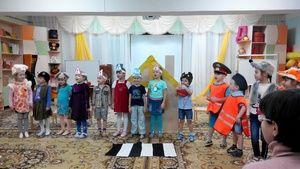 В можгинском детском саду прошло мероприятие посвящённое безопасности детей на дороге