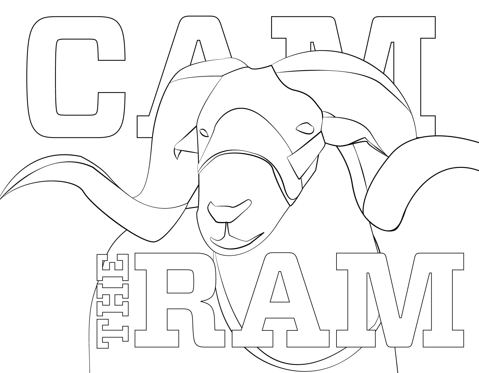 Print Out Cam The Ram And Color Him During A Study Break This Week