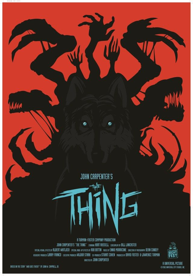 Some Really Cool Alternative Movie Posters For John Carpenters The Thing