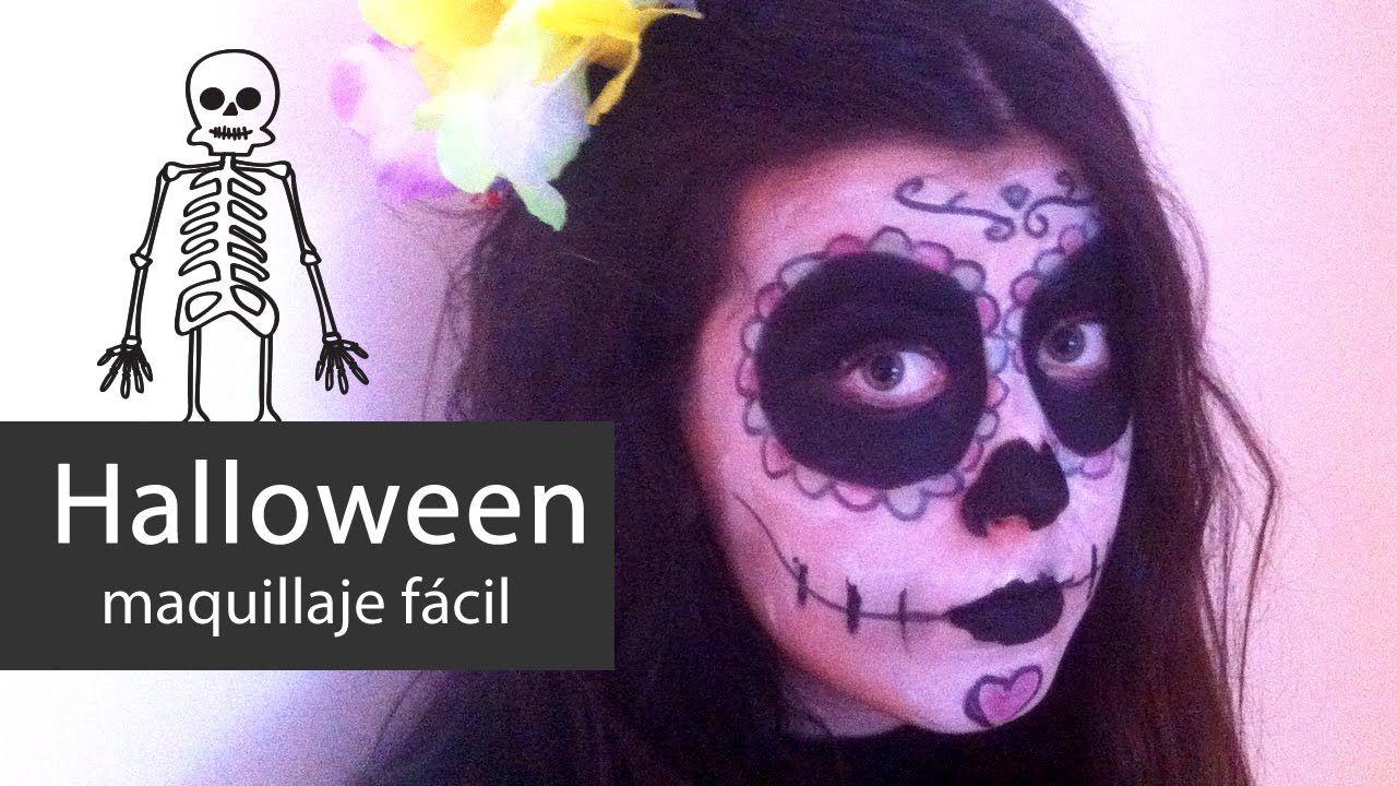 Halloween make-up. Día de los Muertos maquillaje