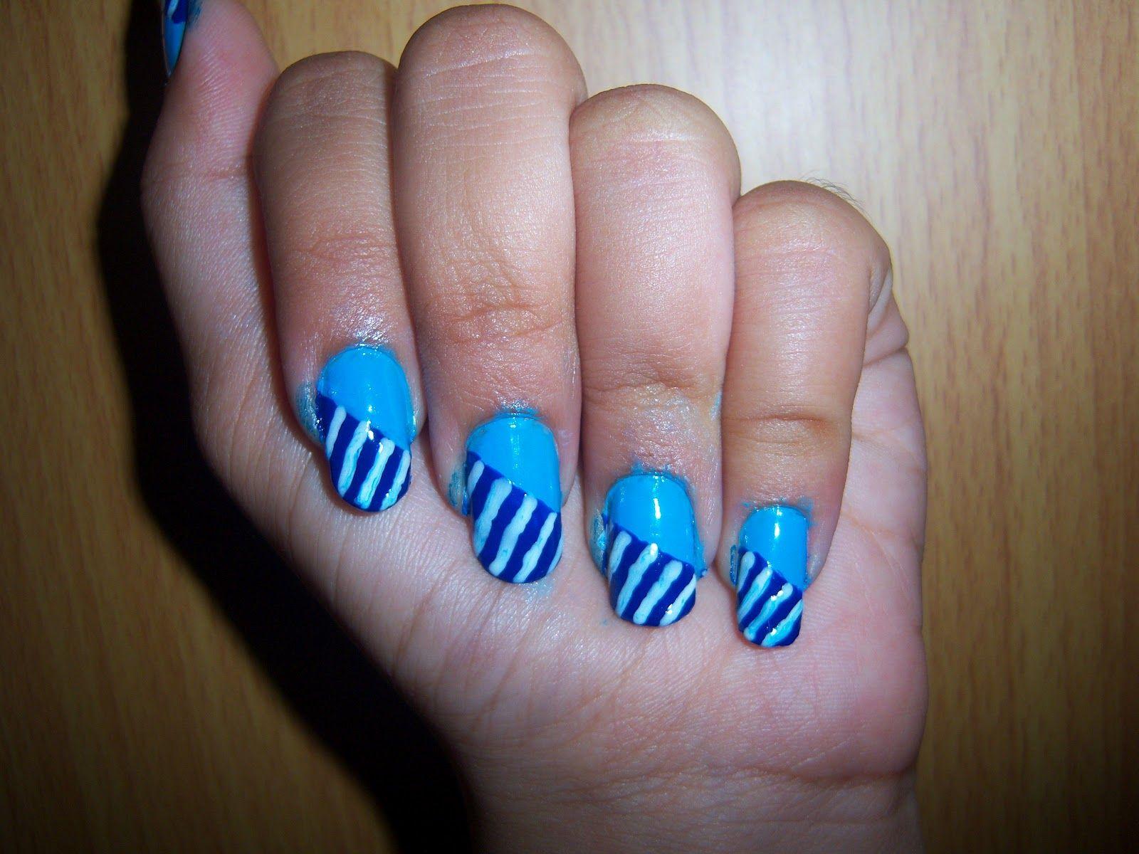 Blue Nail Art Sky Blue Nails Blue Nail Art Simple Nails