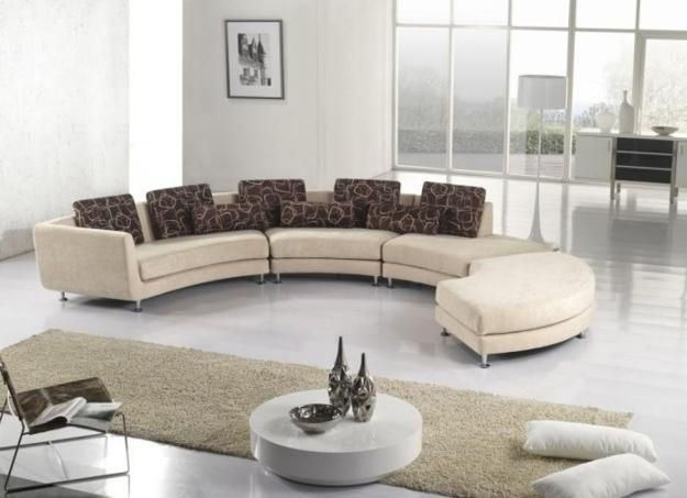 20 Modern Living Room Designs With Stylish Curved Sofas  Modern Magnificent Circular Living Room Design Decorating Design