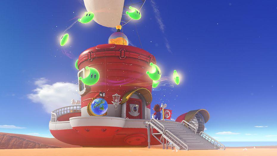 super mario odyssey bowser ship