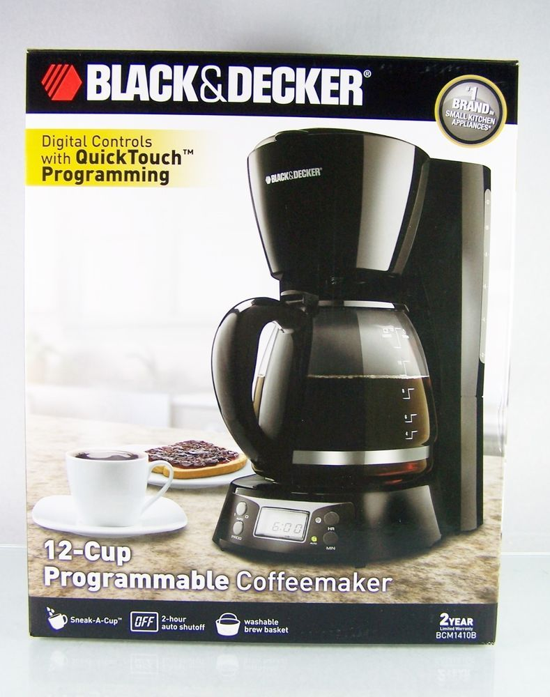 Black and decker coffee maker 12 cup programmable -  Blackdecker Black And Decker 12 Cup Size Programmable Coffee Maker Coffeemaker With