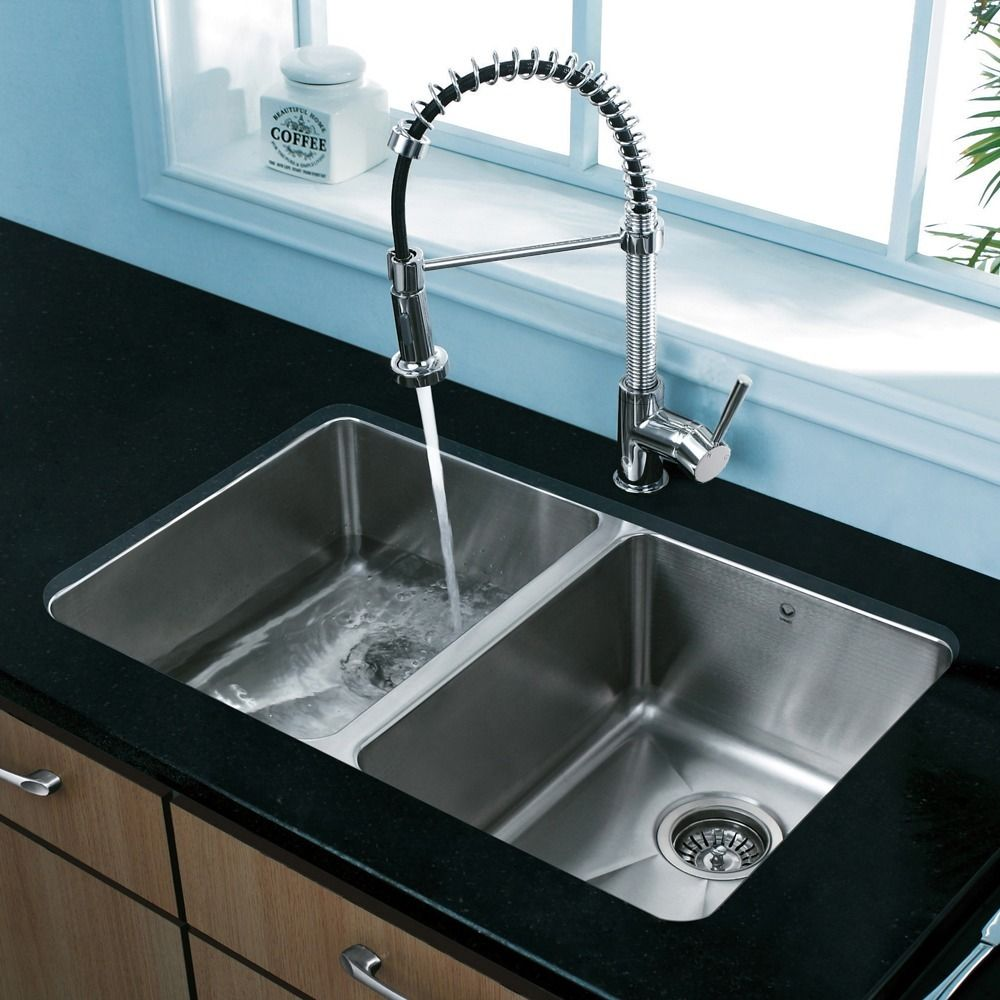 Make a statement in your kitchen by adding this stylish faucet with ...