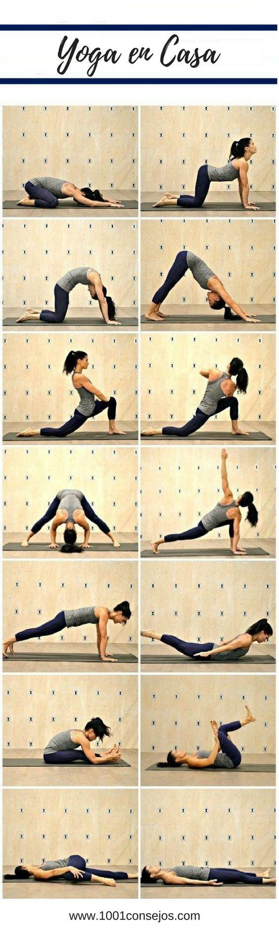 Estos Ejercicios De Yoga En Casa Te Mantendran Saludable Ejercicios De Yoga Para Principiantes Rutina De Yoga Para Easy Yoga Workouts Yoga Poses Yoga Flow