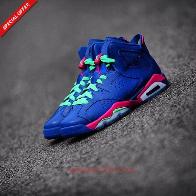 Womens Blue Pink 543390 439 Air Jordan 6 Retro Game Royal For Sale Air Jordans Air Jordans Retro Nike Shoes Women