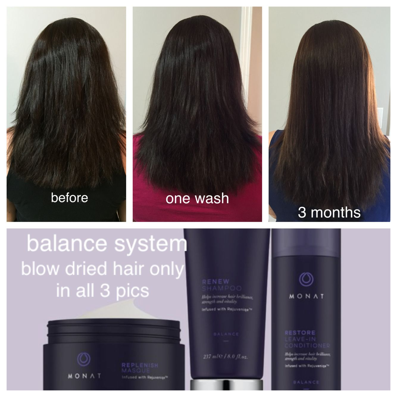 Using MONAT Balance System! Fuller, longer, straighter