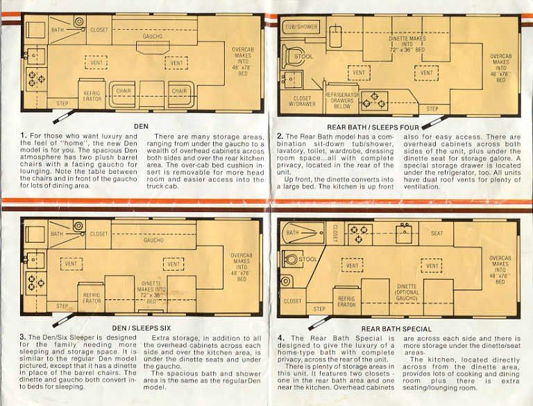 toyota motorhome floor plans  5