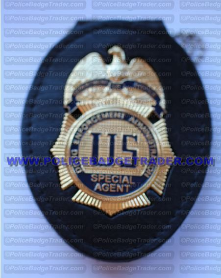 DEA Special Agent badge with recess belt/neck holder
