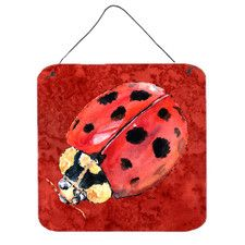 Lady Bug on Deep Hanging Painting Print Plaque
