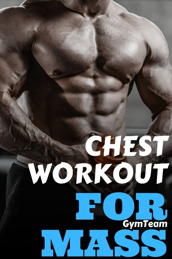 It will be a long and exhausting workout. If you do this workout properly you should feel your chest...