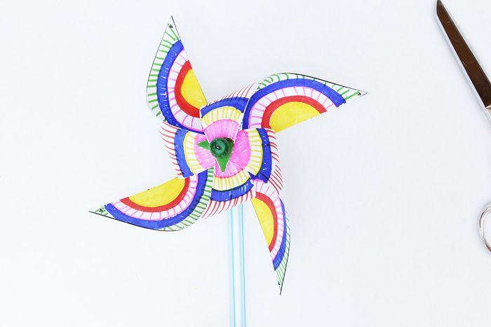 Kids Paper Crafts Op Art Pinwheels Crafts