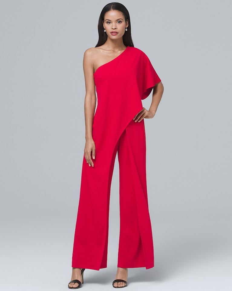 bddb1a3a3525 Women s Adrianna Papell One-Shoulder Overlay Jumpsuit by White House Black  Market