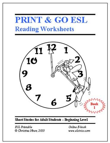 Free Esl Ebooks Printable Worksheets Reading Worksheets Esl Reading Learning Worksheets Esl free worksheets for spanish adults