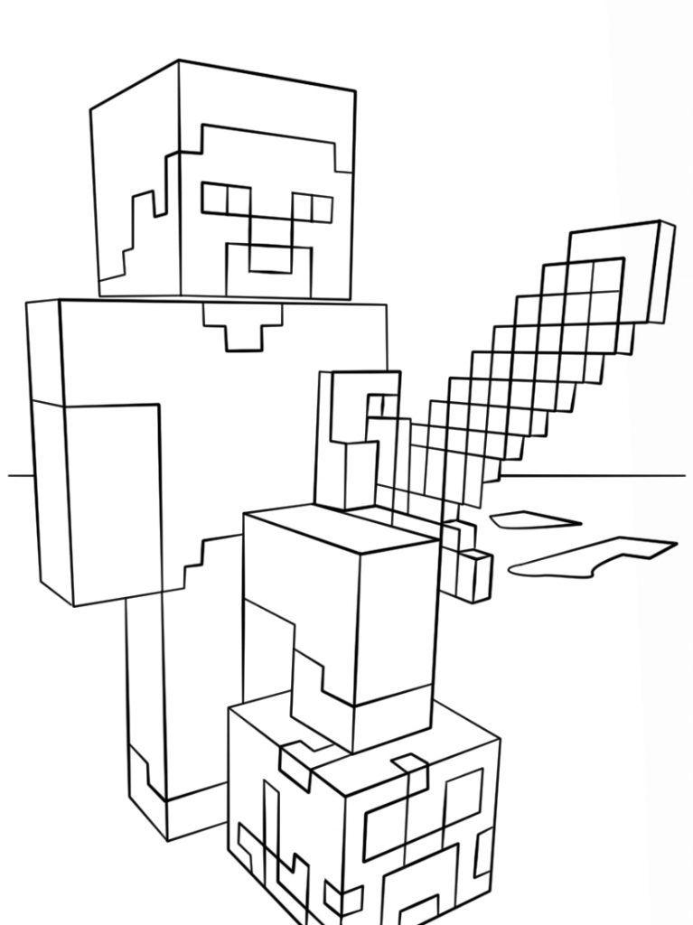 30 Beste Ausmalbilder Minecraft Zum Ausdrucken 1ausmalbilder Com Minecraft Ausmalbilder Bilder Zum Ausmalen Fur Kinder Ausmalen