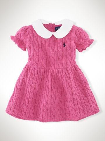 I want a #babygirl   Robe torsadée à manches bouffantes - Infant Girls Robes - Ralph Lauren France