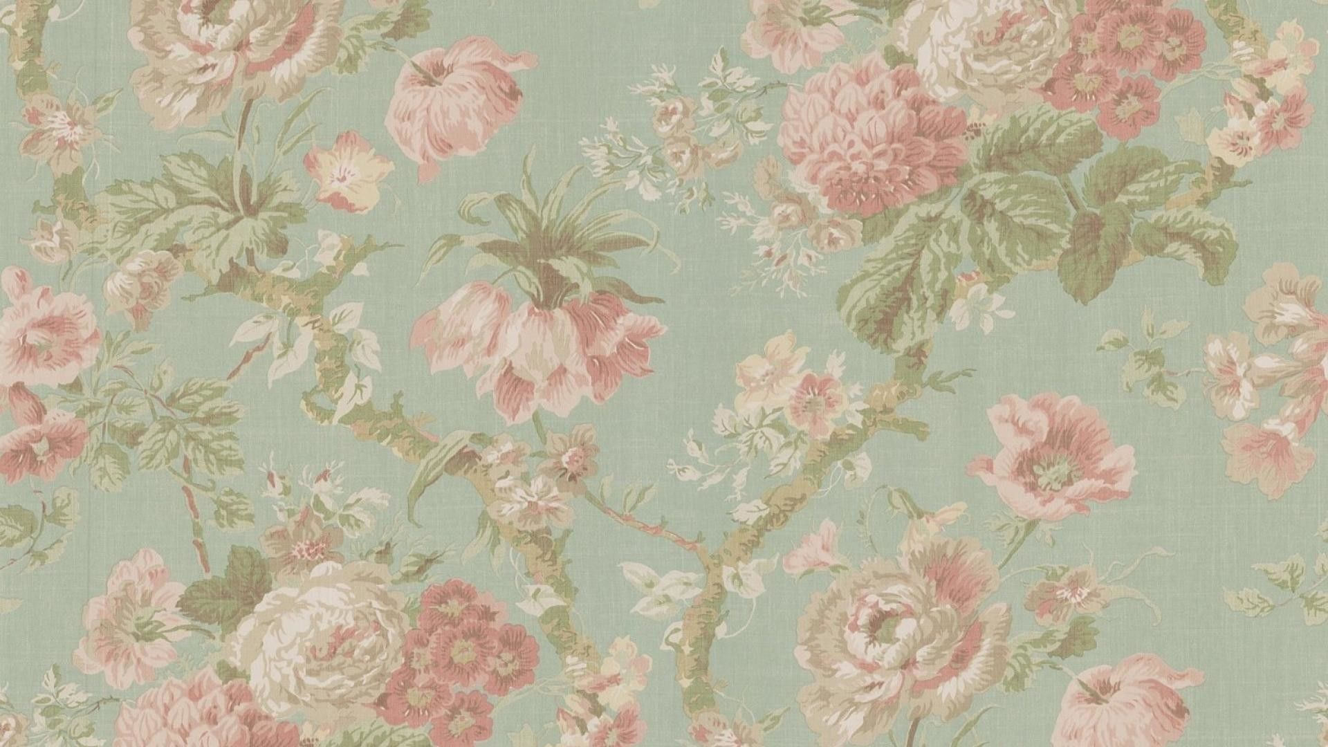 1920x1080 Wallpapers For Retro Floral Desktop Wallpaper Vintage Flowers Wallpaper Vintage Floral Wallpapers Vintage Floral Backgrounds