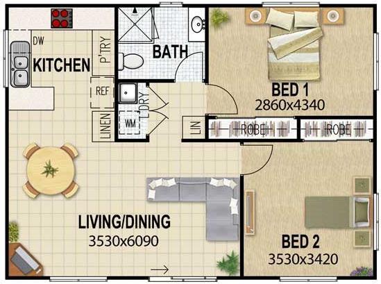 planos de casas cocina comedor juntos