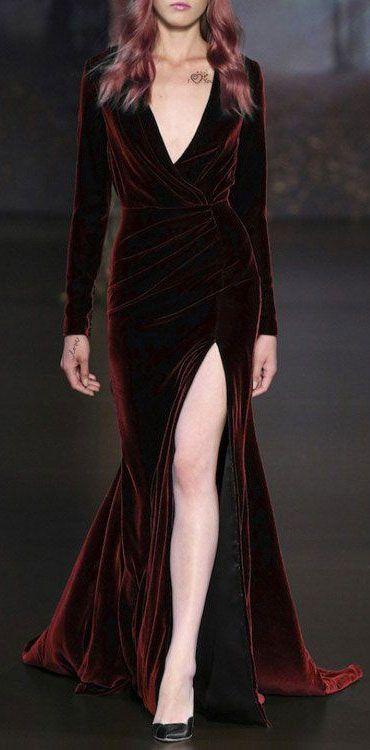 61328b638476 dark red velvet maxi dress