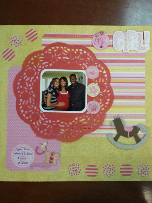 Baby Girl Baby Shower Scrapbook Layout Scrapbook Ideas Rocking