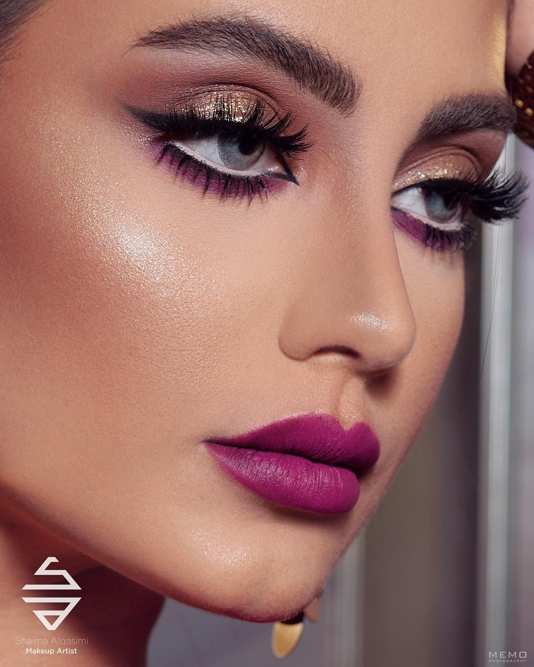 يا ربي ع الجمااااااااااااااال شرايكم Shaima Alqasimi Makeup Lady Rebecca8 Memo Elegant Makeup Eye Makeup Soft Eye Makeup