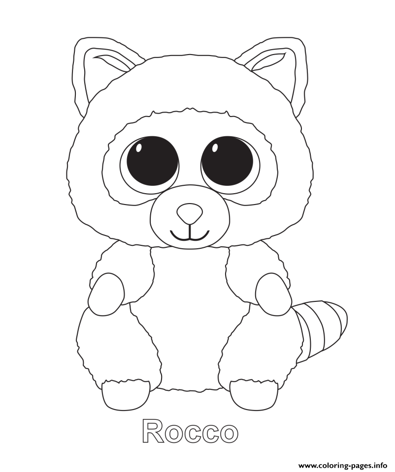 beanie boo coloring pages only - print rocco beanie boo coloring pages juli pinterest