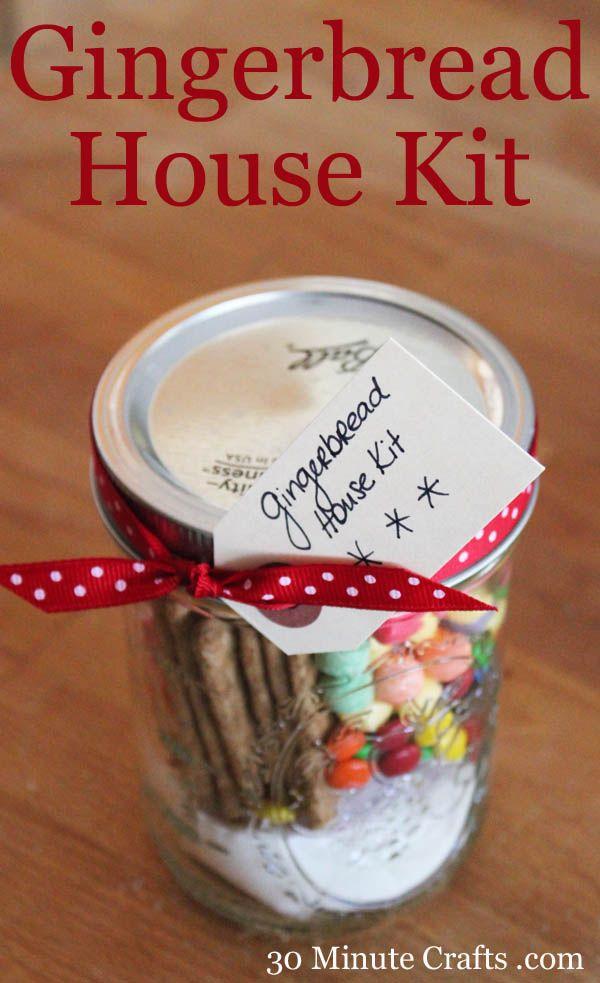 Gingerbread House Gift The V Spot Gingerbread House Kits Christmas Jars Mason Jar Christmas Gifts