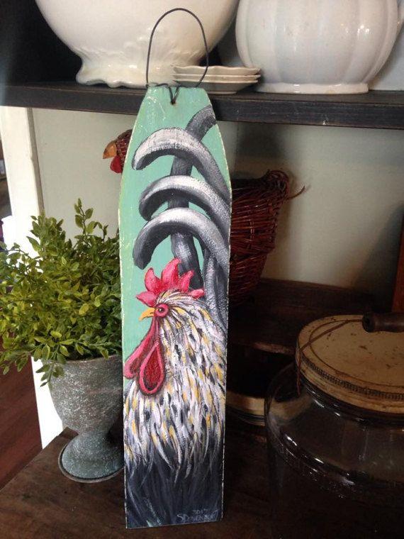 suspensión del gallo, signo gallo, pintura de gallo, decoración de ...