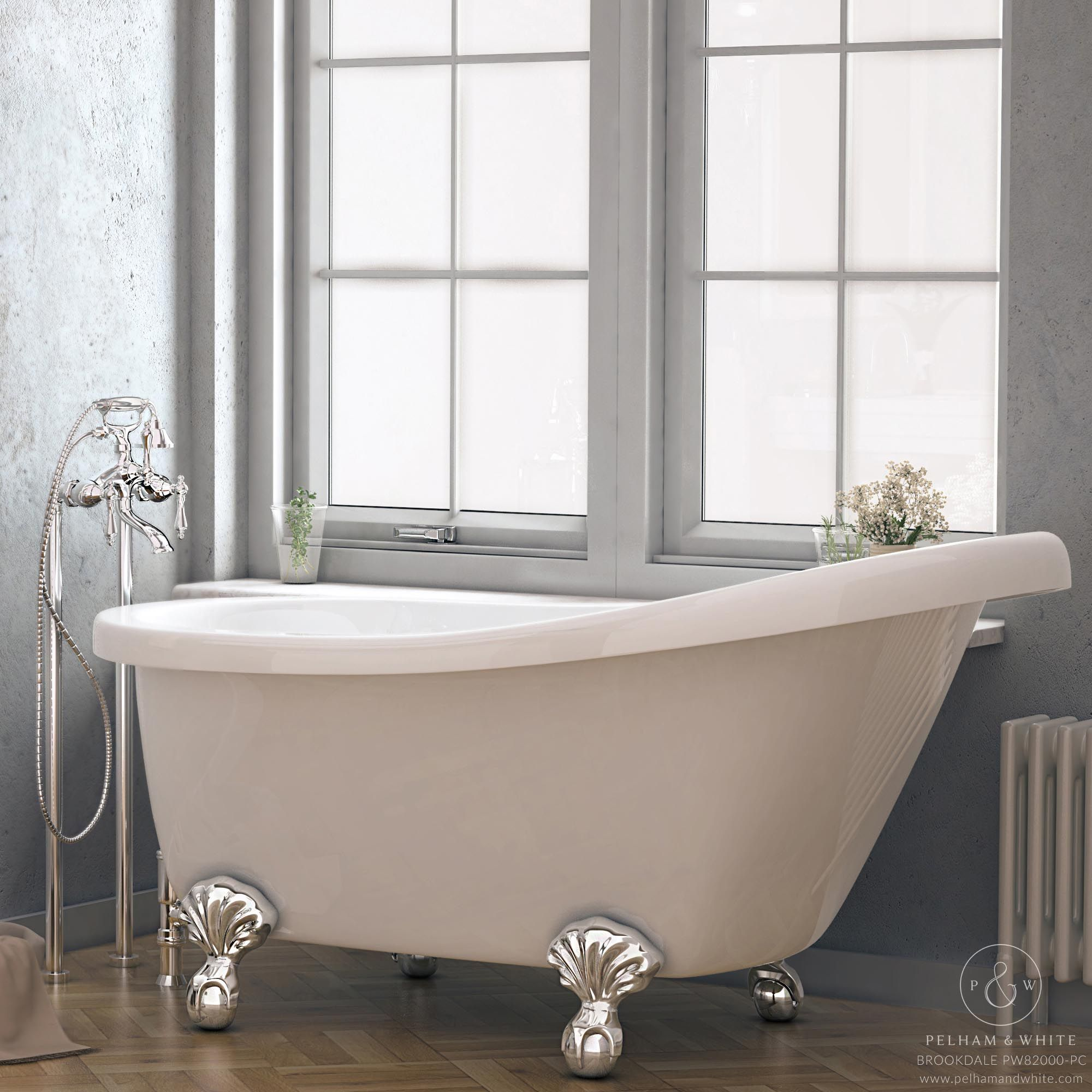 Pelham and White- Brookdale 60 inch slipper tub- Ball and Claw Feet ...