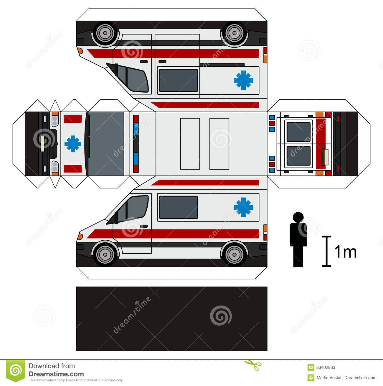 Paper Model Of An Ambulance